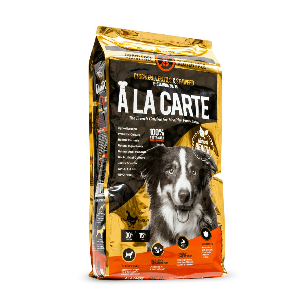 A La Carte Chicken, Lentils & Seaweed e-stamina 30/15 Dog Food