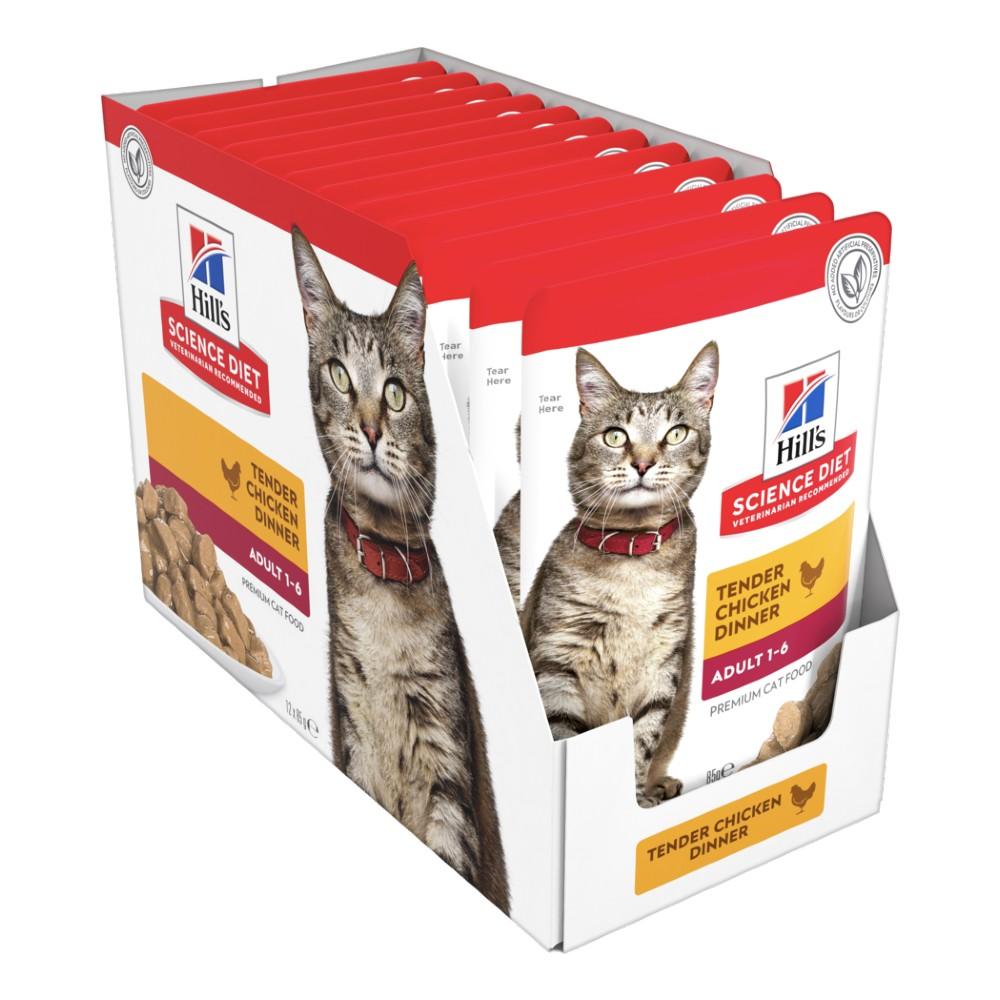 Hills Science Diet Adult Tender Chicken Cat Food Pouches