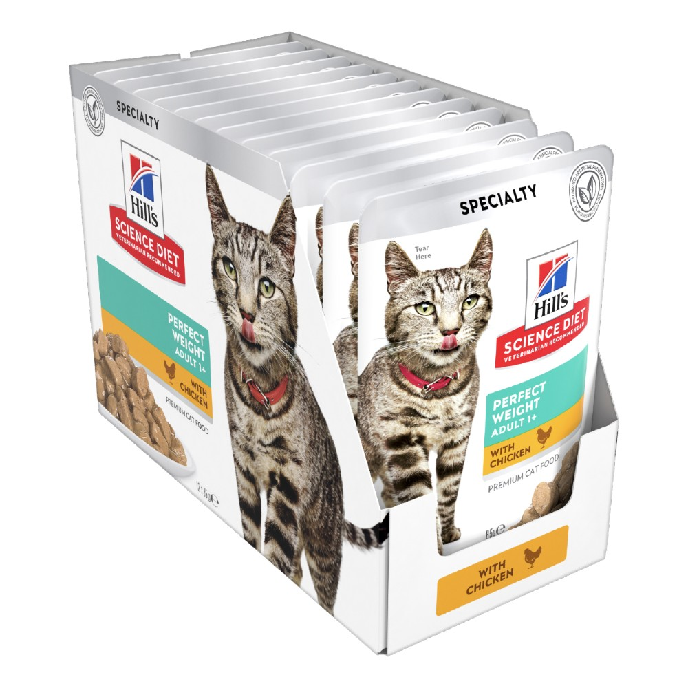 Hills Science Diet Adult Perfect Weight Chicken Cat Food Pouches