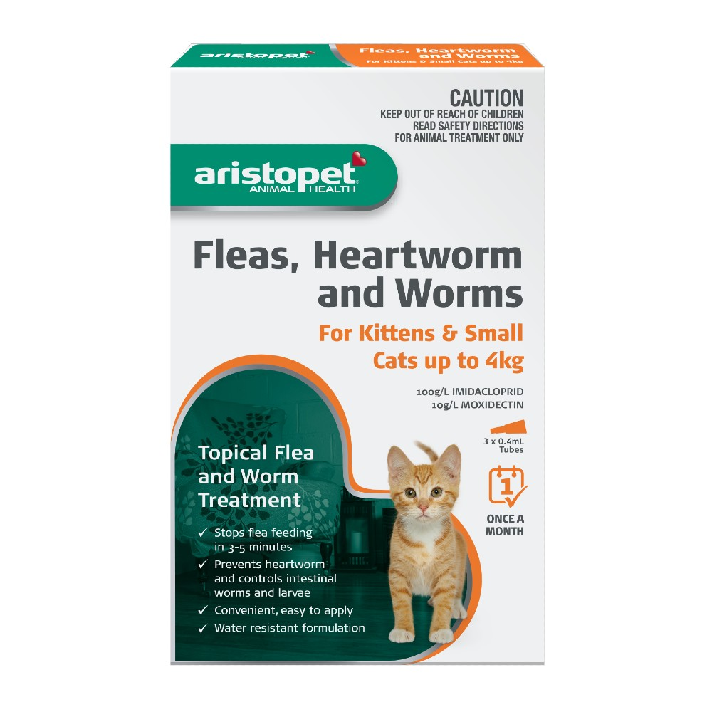 Aristopet Spot-on Treatment for Kittens and Small Cats up to 4kg