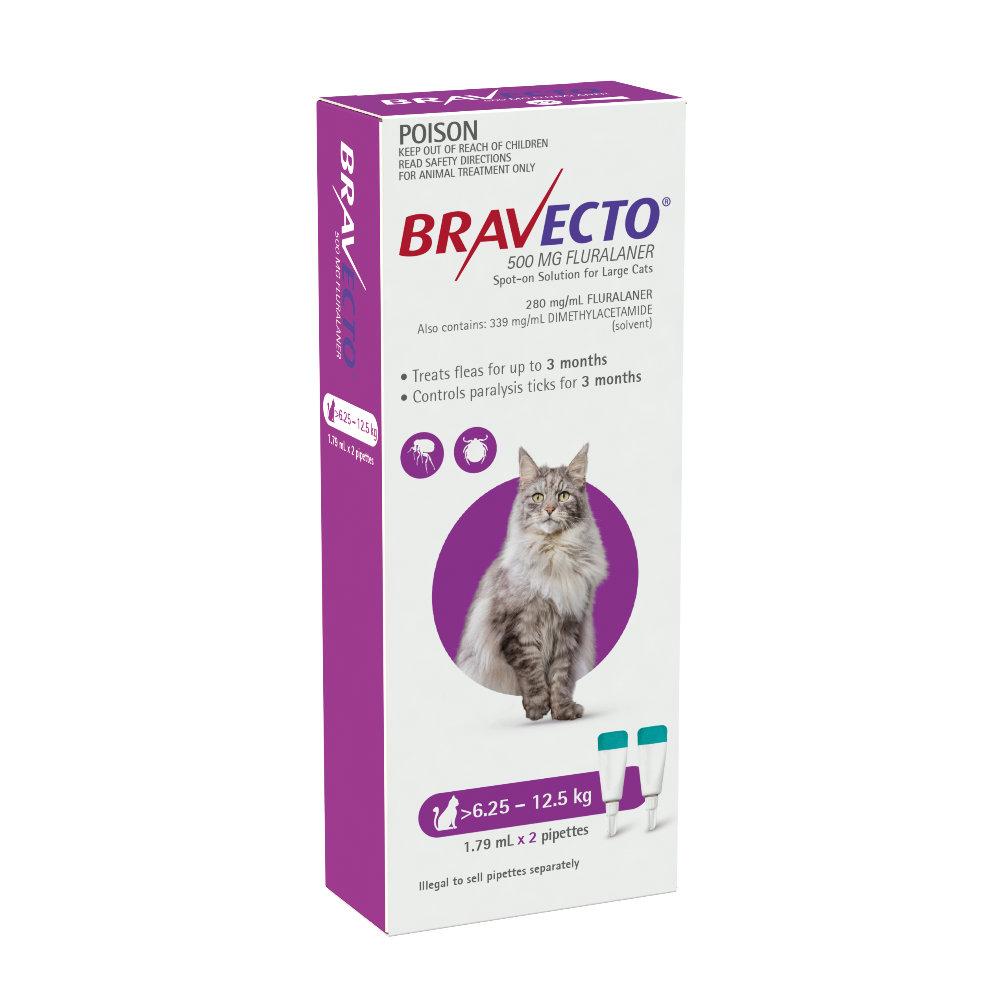 Bravecto Cat Large 6.25-12.5kg Purple Spot On Treatment