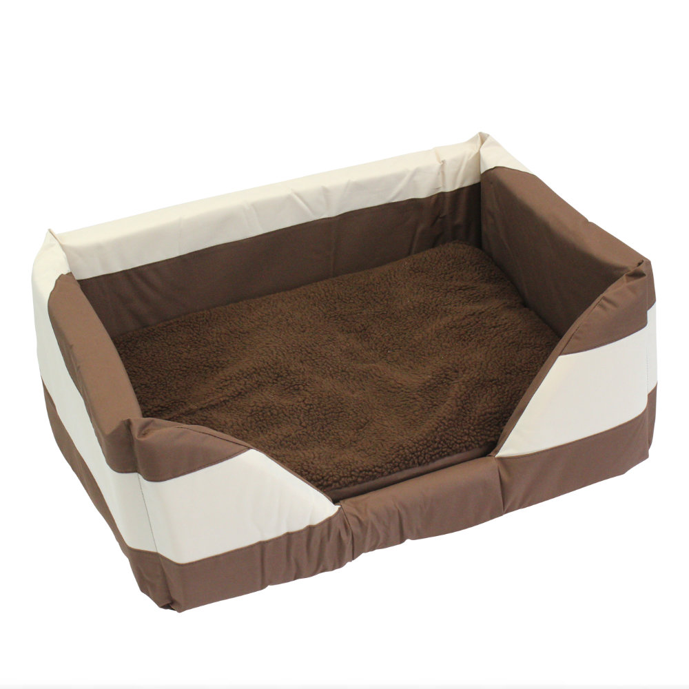 Walled Dog Bed in Brown