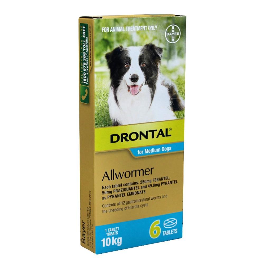 Drontal Allwormer Tablets Medium 10kg