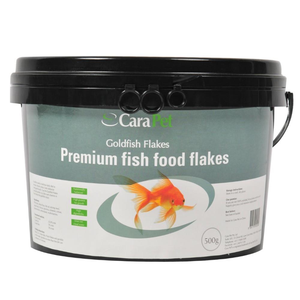 Cara Pet Goldfish Fish Food Flakes Bulk Pack