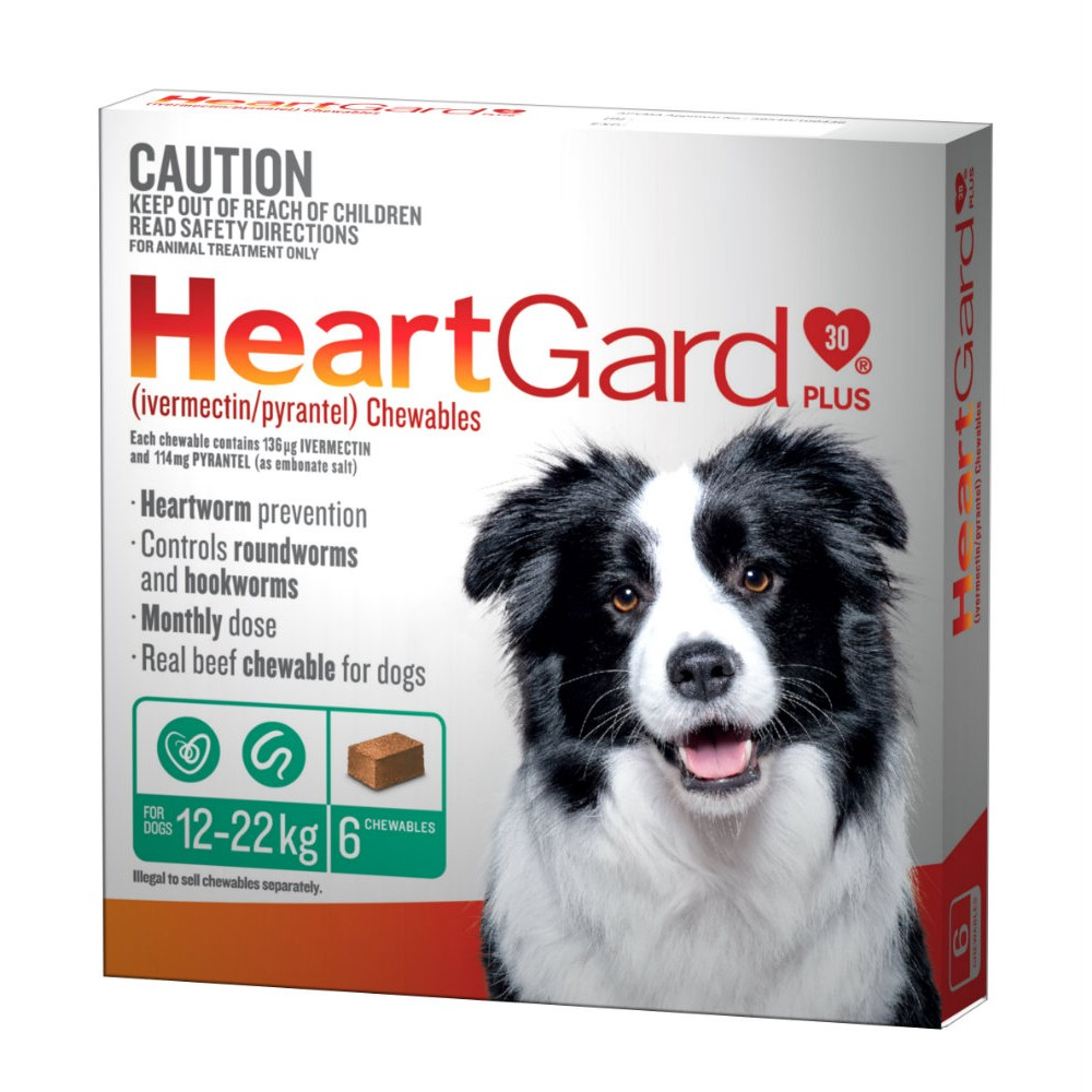 Heartgard Plus 12-22kg Medium Green