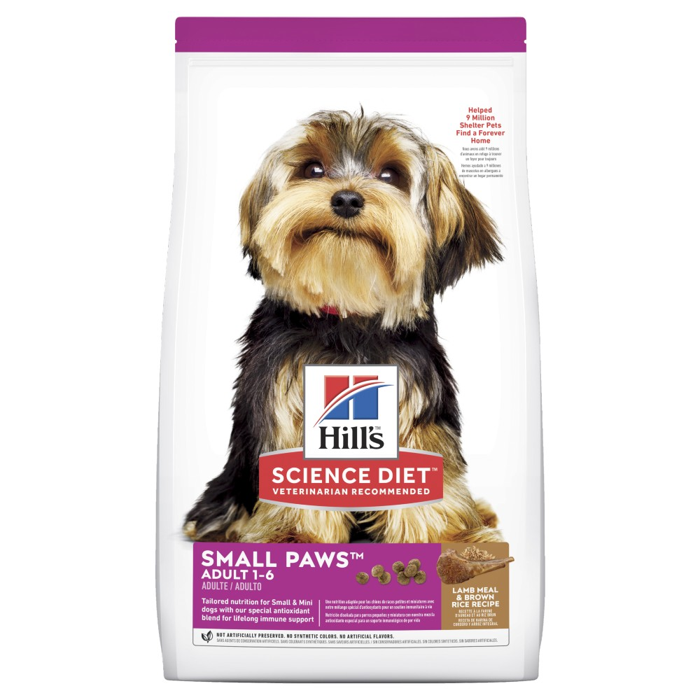 Hills Science Diet Adult Small Paws Lamb And Rice Dry Dog Food