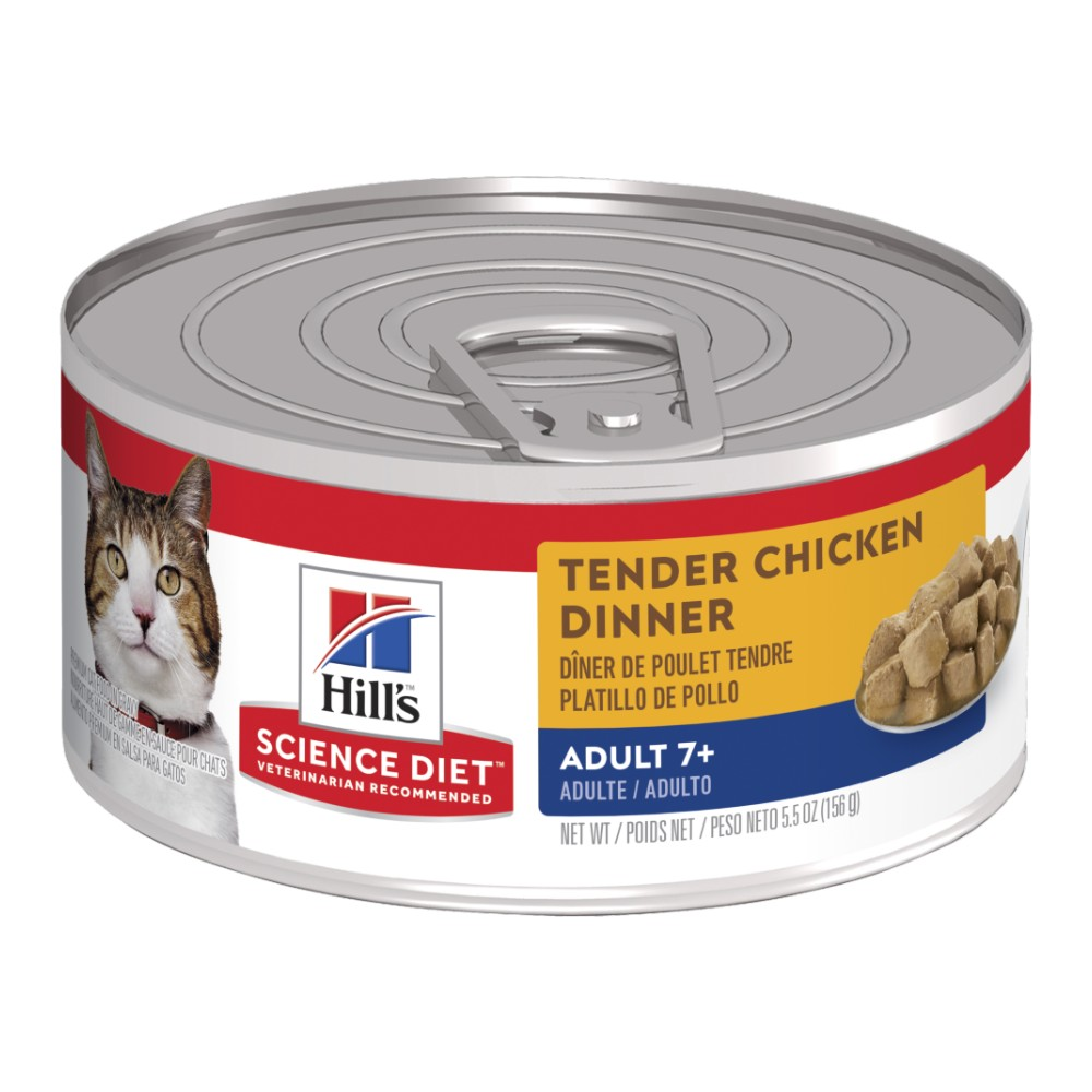 Hills Science Diet Adult Cat 7+ Tender Chicken Canned Food