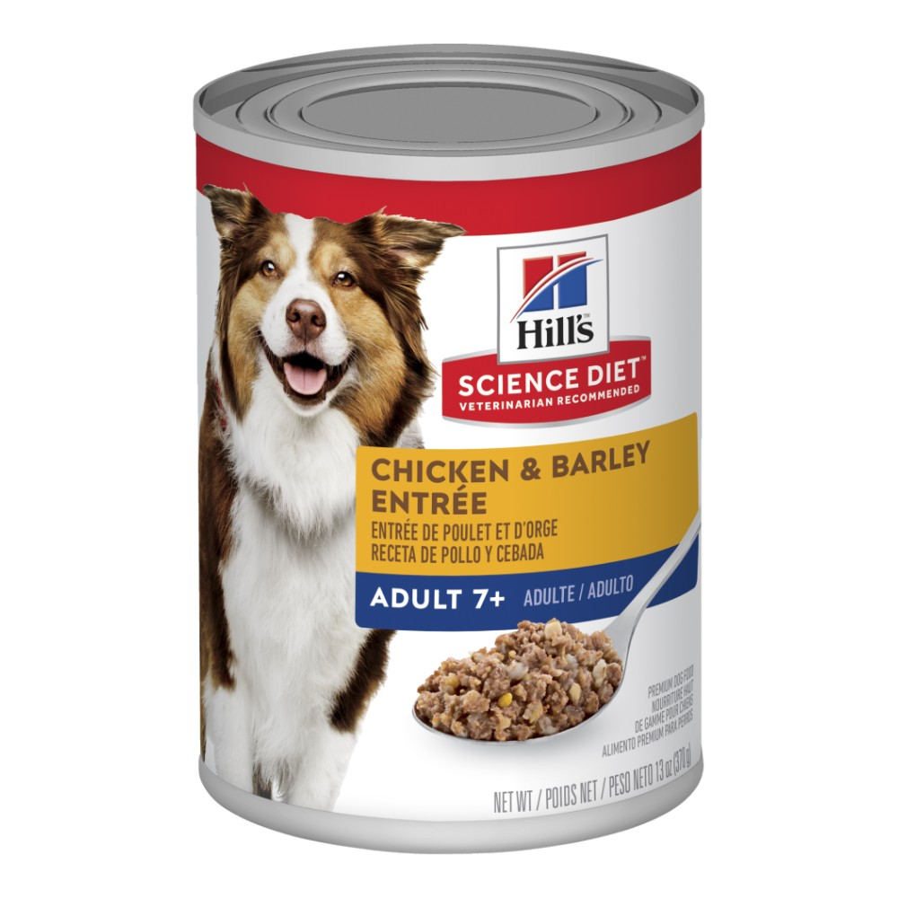 Hills Science Diet Senior Adult 7+ Chicken and Barley Entree Canned Dog Food