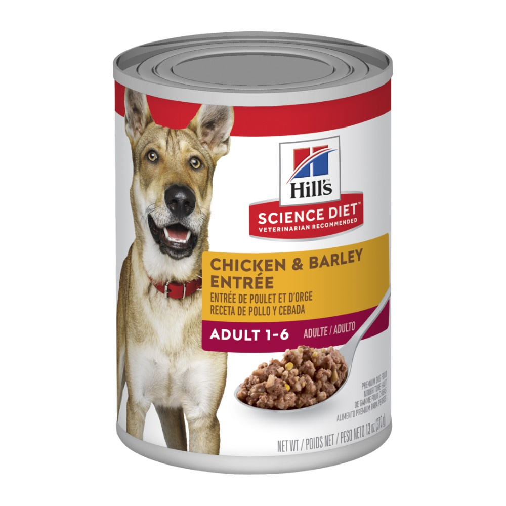 Hills Science Diet Adult Chicken and Barley Entree Canned Dog Food