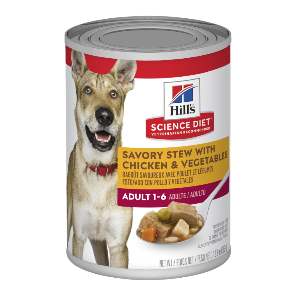 Hills Science Diet Adult Savory Stew Chicken and Vegetable Canned Dog Food