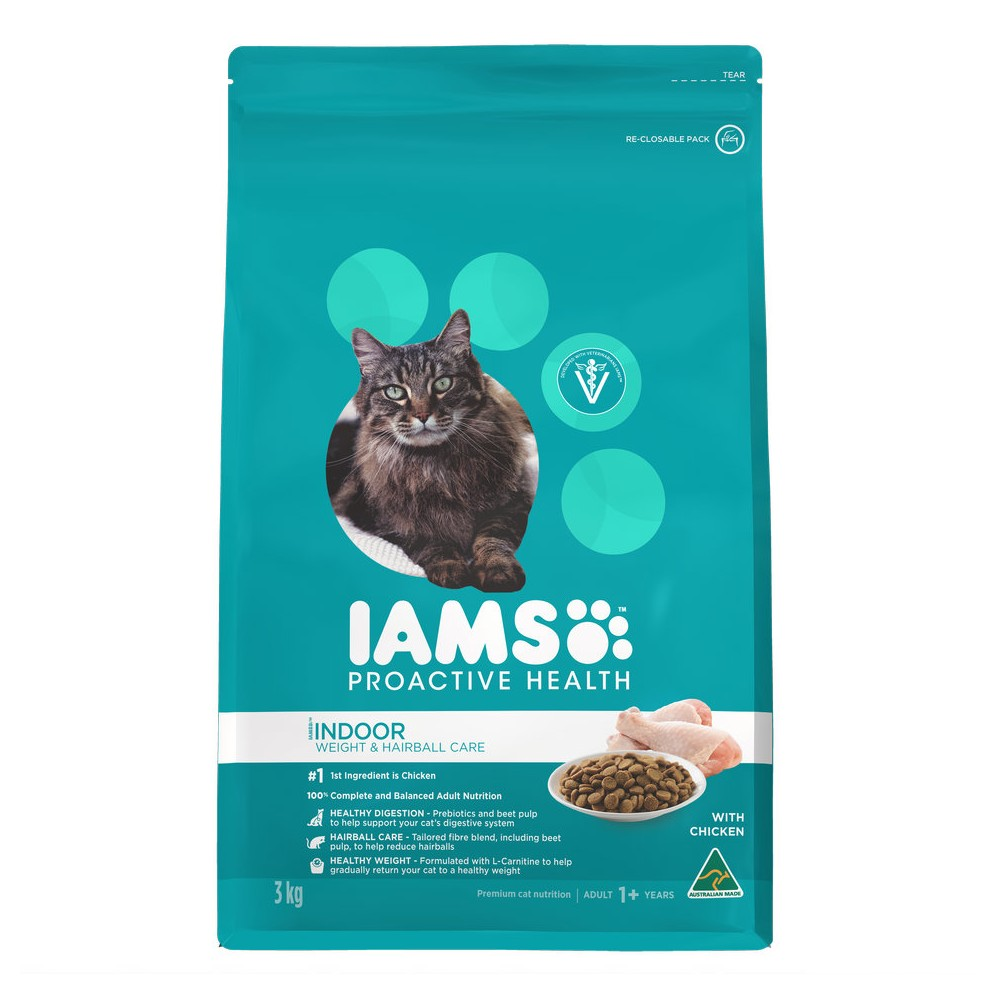 Iams Adult Indoor Weight and Hairball Care