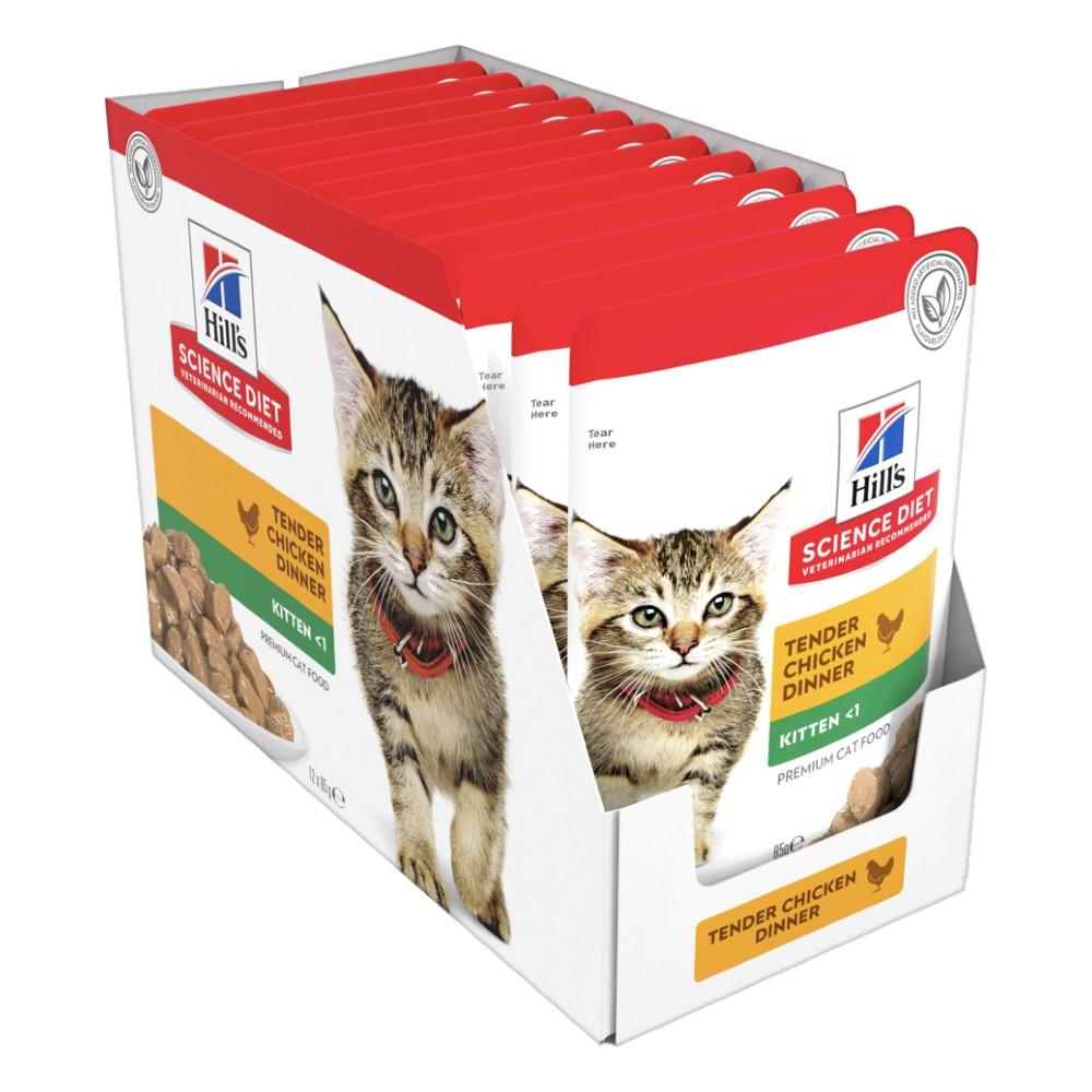 Hills Science Diet Kitten Chicken Cat Food Pouches