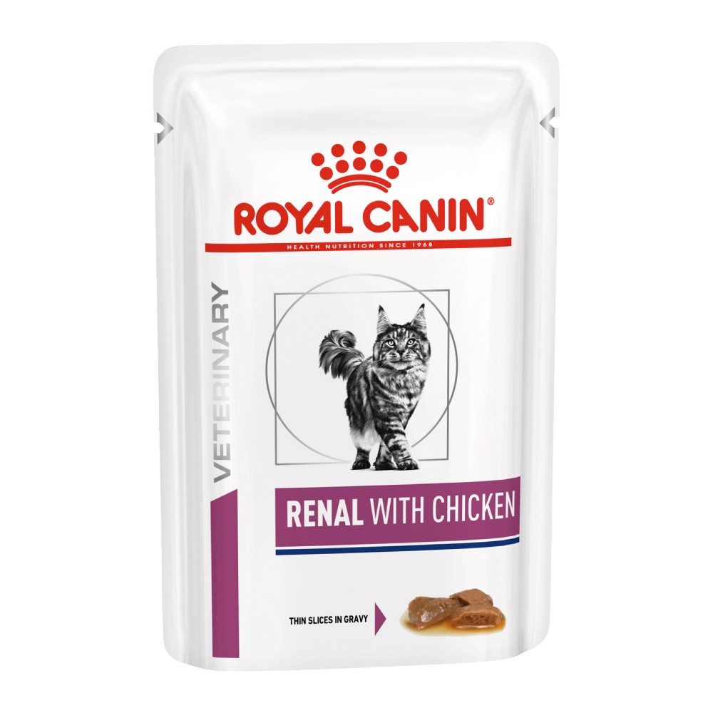 Royal Canin Veterinary Diet Feline Renal Chicken Pouches