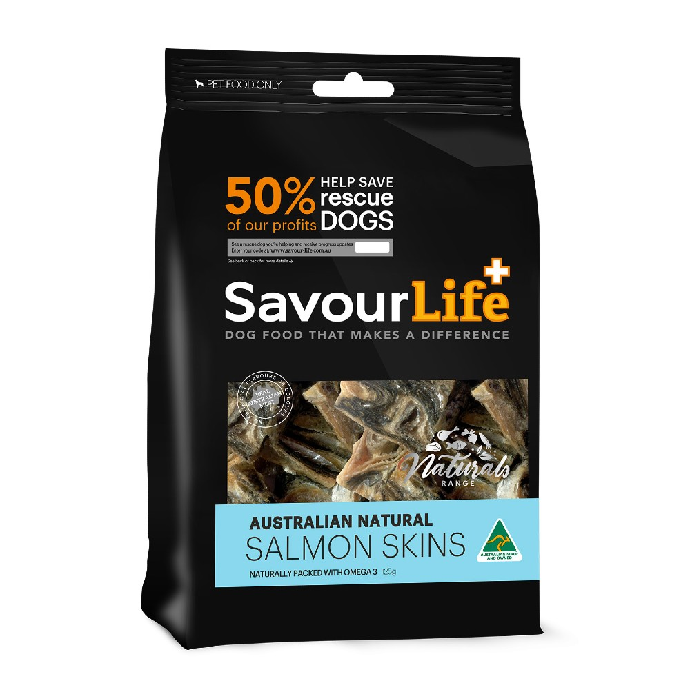 Savour Life Natural Treats Australian Salmon Skins