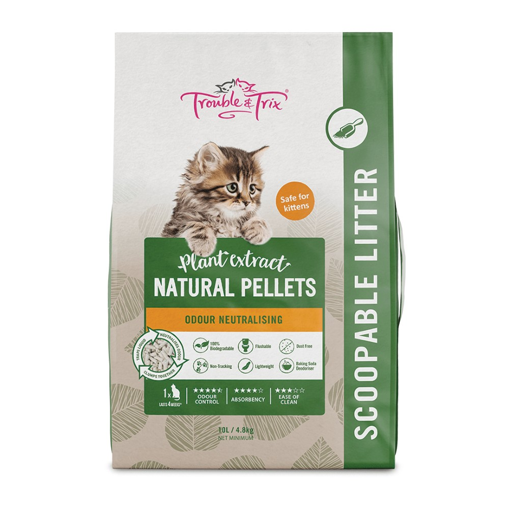 Trouble & Trix Natural Pellets Flushable Litter