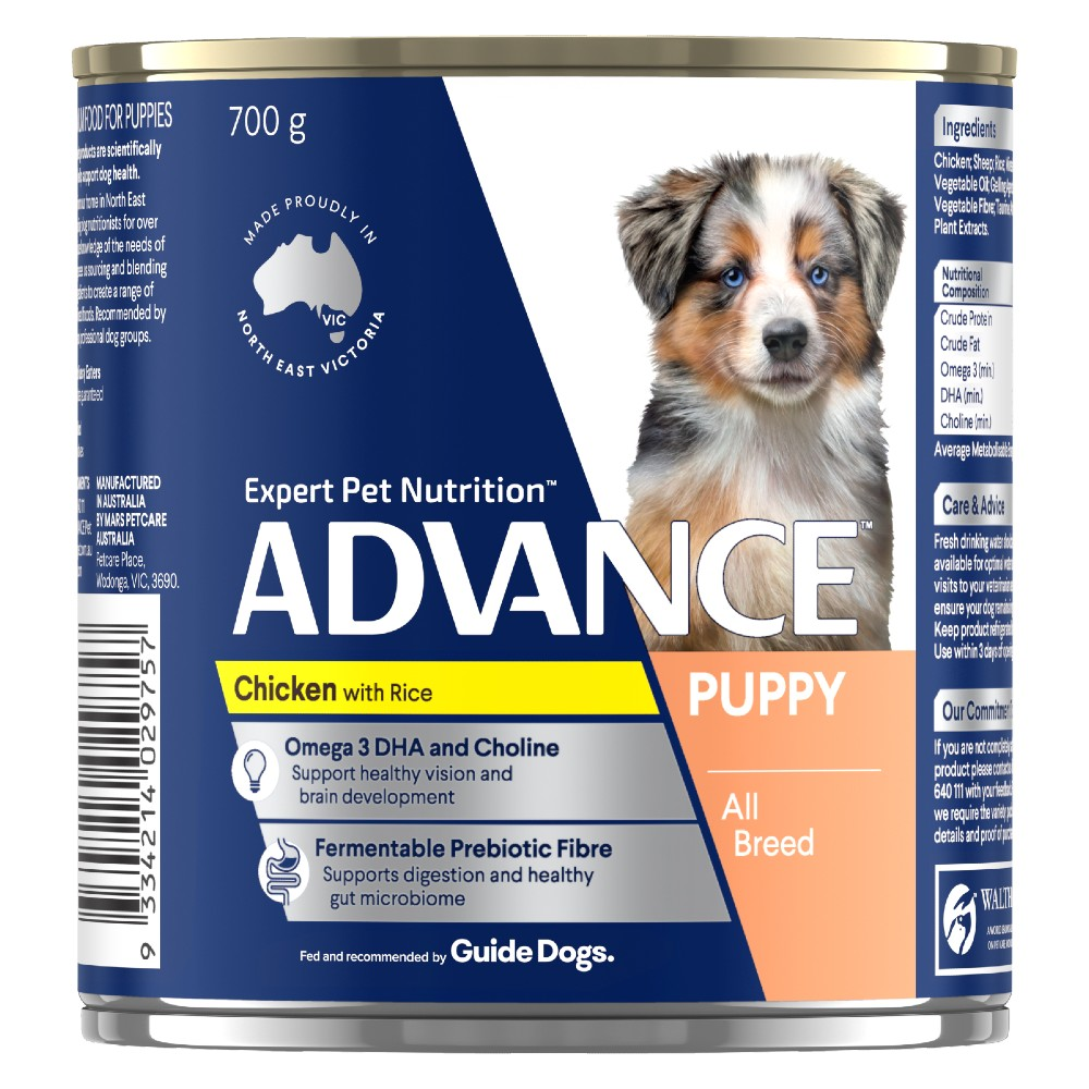 Advance Puppy Chicken and Rice Cans