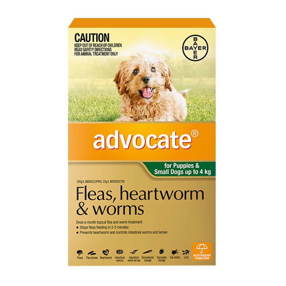Advocate Puppies and Small Under 4kg Green