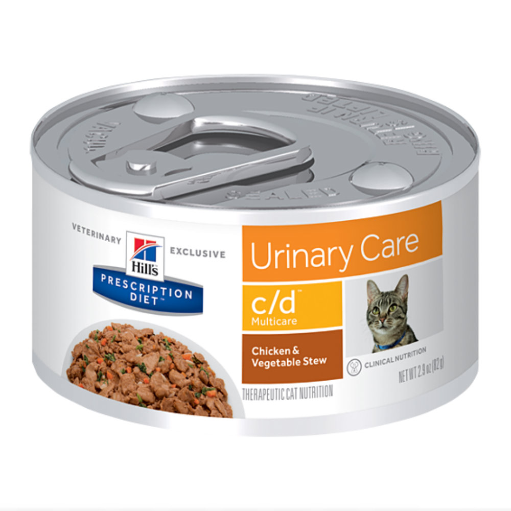 Hills Prescription Diet c/d Multicare Urinary Care Chicken & Vegetable Stew Canned Cat Food