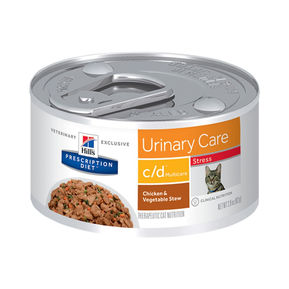 Hills Prescription Diet c/d Multicare Stress Urinary Care Chicken Vegetable Stew Canned Cat Food