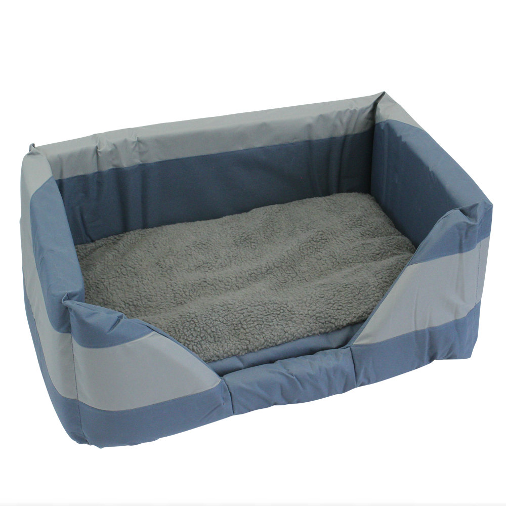 Walled Dog Bed in Blue