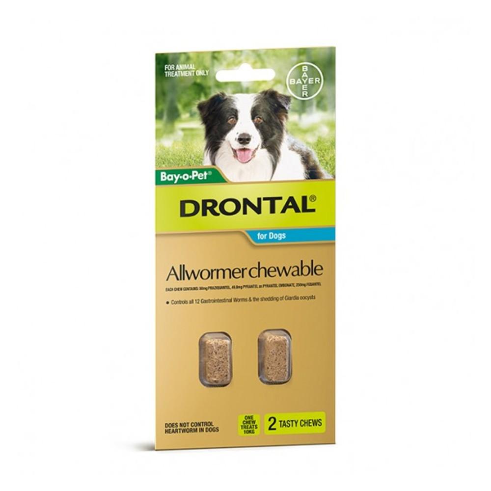 Drontal Allwormer Chew Medium 3-10kg