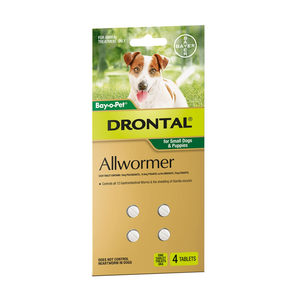Drontal Allwormer Tablets Small 3kg