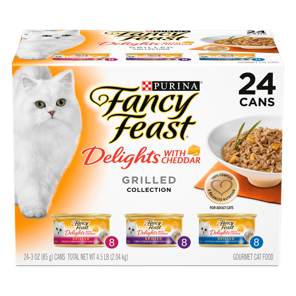 Fancy Feast Delights with Cheddar Collection