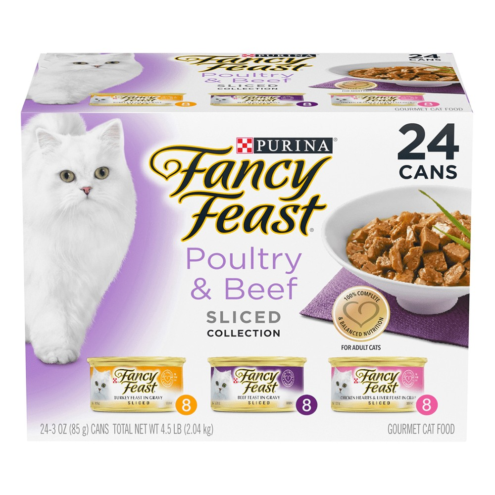 Fancy Feast Poultry and Beef Sliced Collection