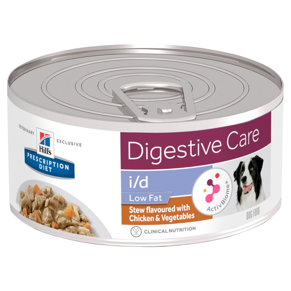 Hills Prescription Diet i/d Low Fat Digestive Care Chicken Vegetable Stew Canned Dog Food