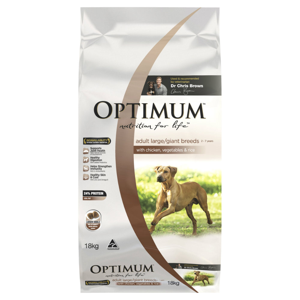 Optimum Adult Large Breed Chicken, Rice and Vegetables