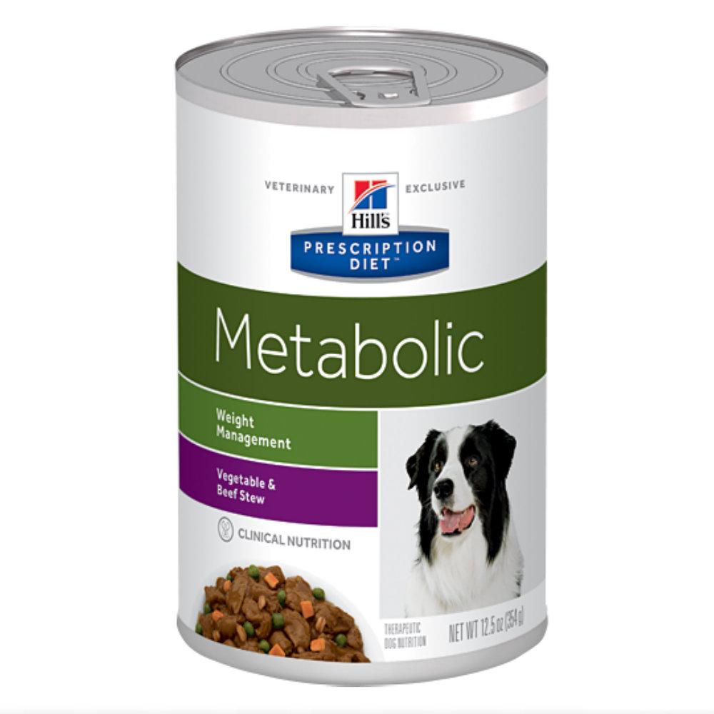 Hills Prescription Diet Metabolic Weight Management Vegetable & Beef Stew Canned Dog Food