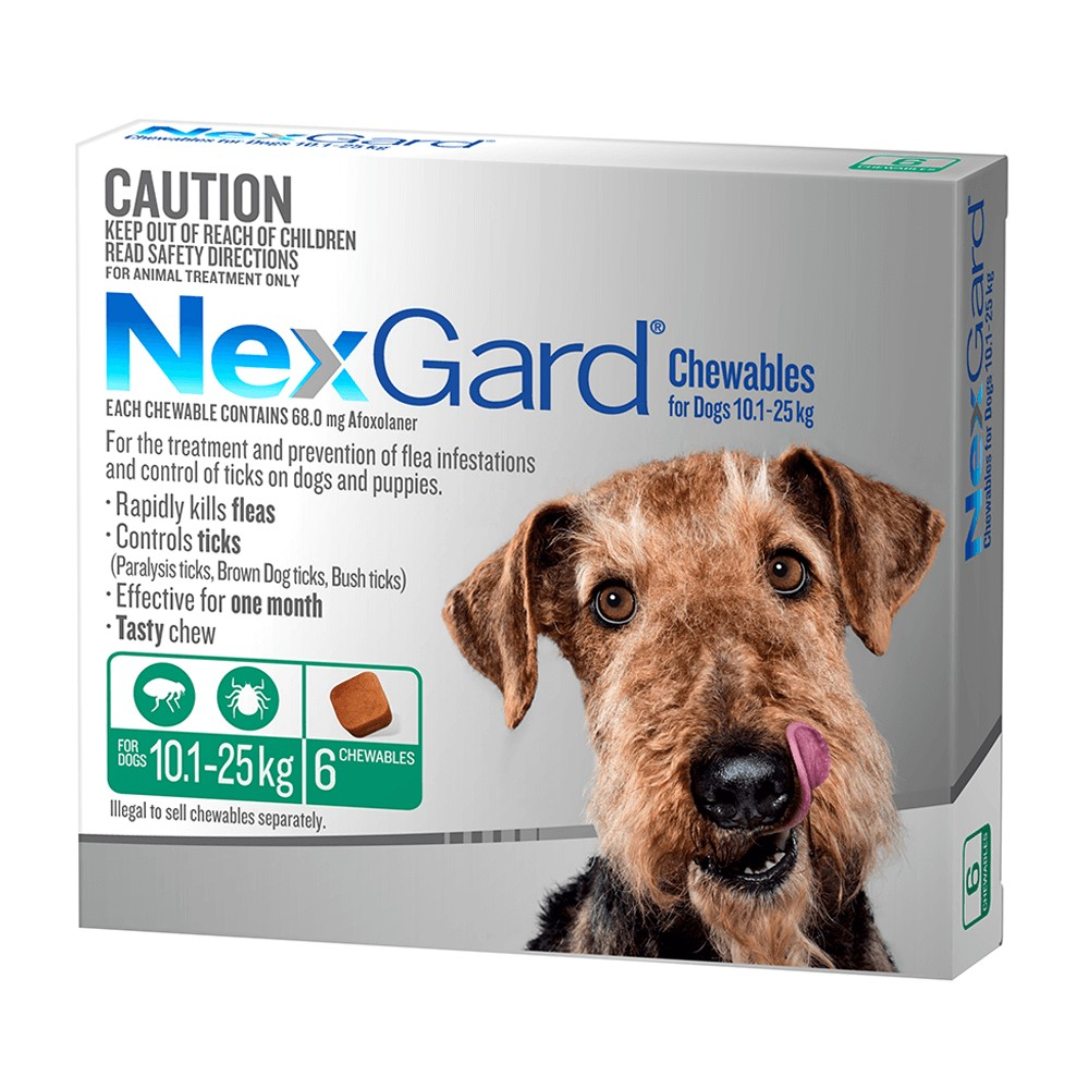 NexGard Medium 10 - 25kg Green