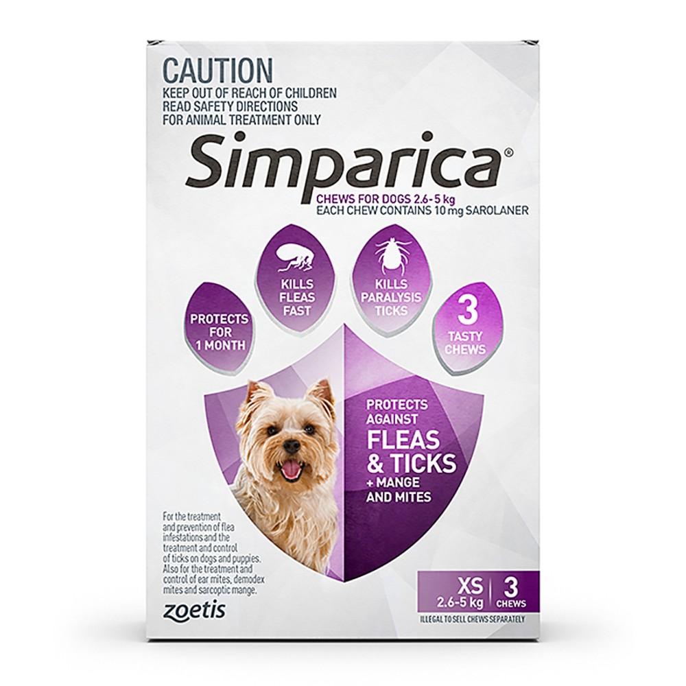 Simparica Extra Small 2.6-5kg