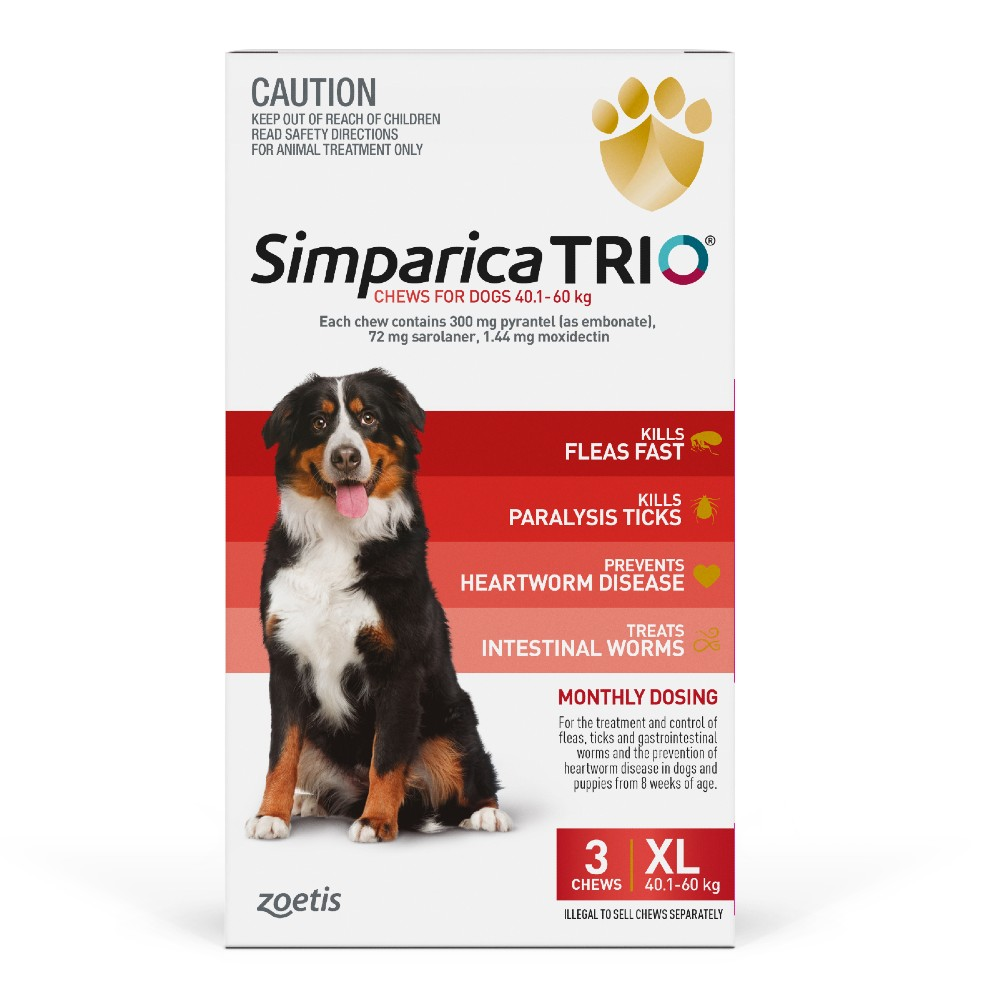 Simparica Trio Extra Large 40.1-60kg