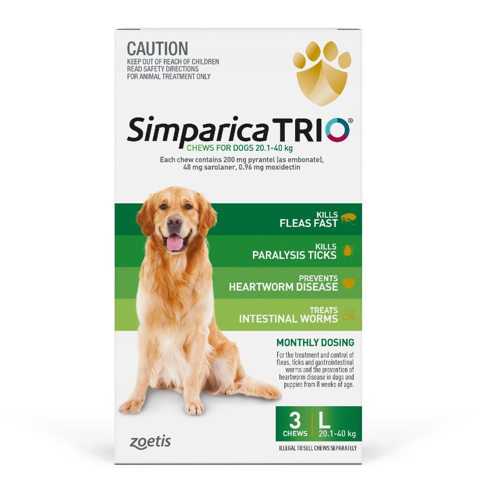 Simparica Trio Large 20.1-40kg