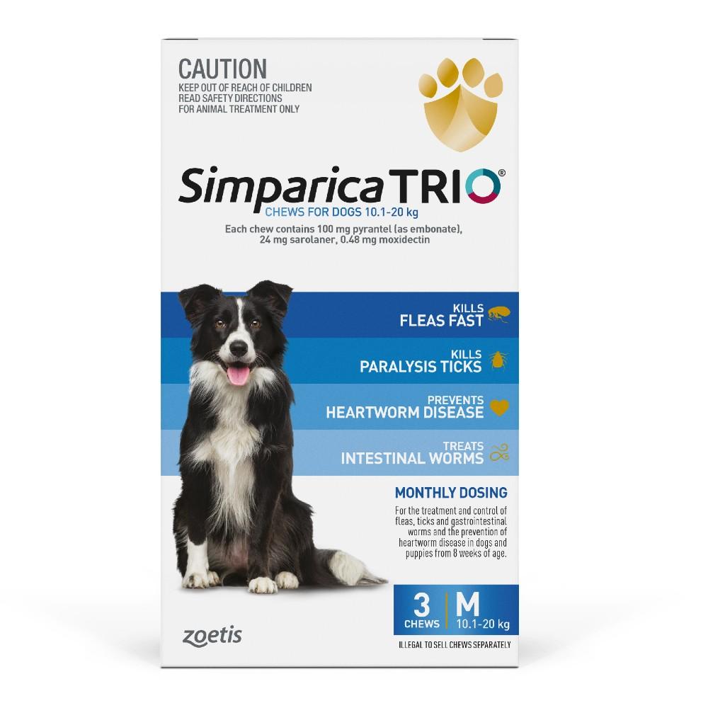 Simparica Trio Medium 10.1-20kg