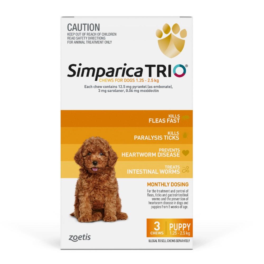 Simparica Trio Puppy 1.3-2.5kg
