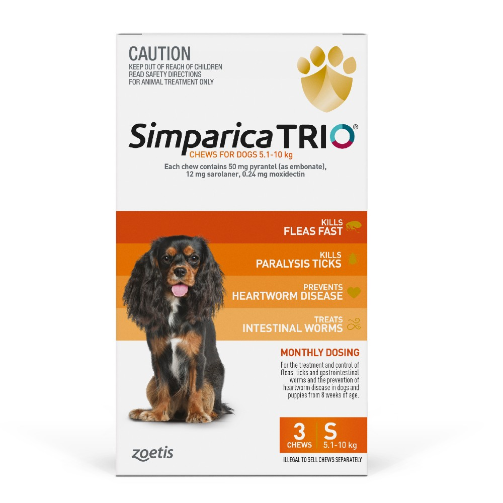 Simparica Trio Small 5.1-10kg